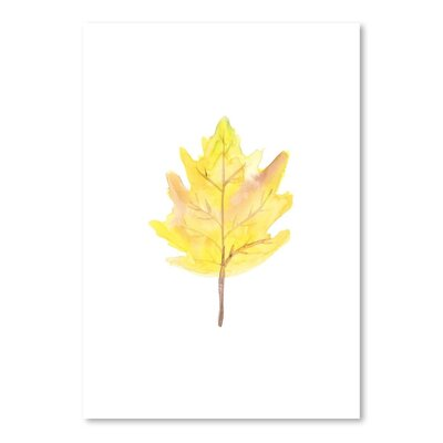 Americanflat 'Watercolour 2 Leaf' by Jetty Printables Art Print