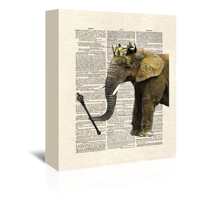 Americanflat 'Elephant King' by Matt Dinniman Graphic Art Wrapped on Canvas