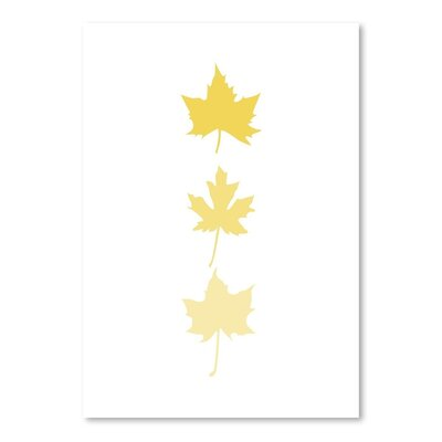 Americanflat 'Leaves' by Jetty Printables Graphic Art in Yellow
