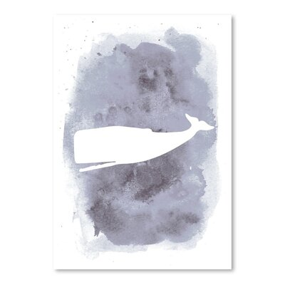 Americanflat 'Watercolour Grey Back Whale' by Jetty Printables Art Print