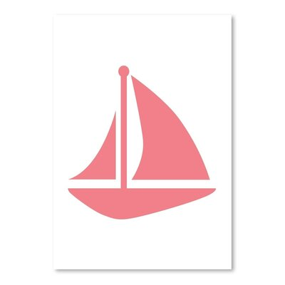Americanflat 'Coral Sailboat' by Jetty Printables Graphic Art