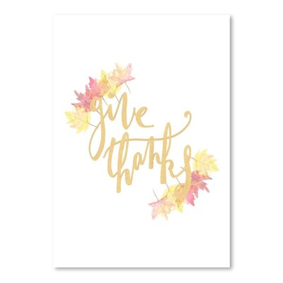 Americanflat 'Give Thanks' by Jetty Printables Graphic Art