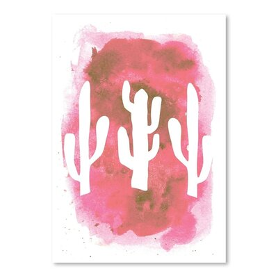 Americanflat 'Watercolour Cactus' by Jetty Printables Graphic Art