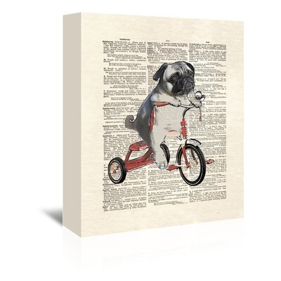 Americanflat 'Mike The Trike' by Matt Dinniman Graphic Art Wrapped on Canvas