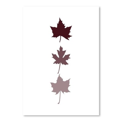 Americanflat 'Burgunday Leaves' by Jetty Printables Graphic Art