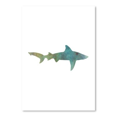Americanflat 'Faded Green Shark' by Jetty Printables Graphic Art