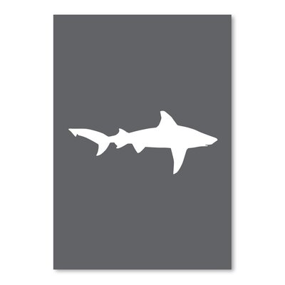 Americanflat 'Grey White Shark' by Jetty Printables Graphic Art