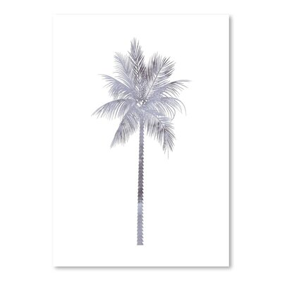 Americanflat 'Watercolour Palm' by Jetty Printables Graphic Art in Grey