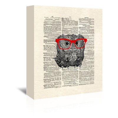 Americanflat 'Smarty Owl' by Matt Dinniman Graphic Art Wrapped on Canvas