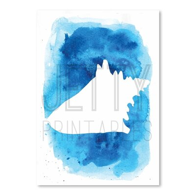 Americanflat 'Watermark Watercolourlue Background Conc' by Jetty Printables Graphic Art