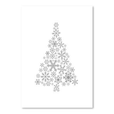 Americanflat 'Grey Snowflake Tree' by Jetty Printables Graphic Art