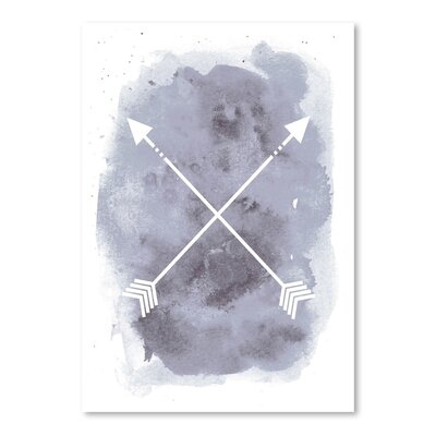 Americanflat 'Watercolour Background Arrow' by Jetty Printables Graphic Art