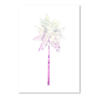 Americanflat 'Palm' by Jetty Printables Graphic Art in Pink