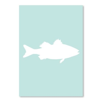 Americanflat 'Mint White Sea Bass' by Jetty Printables Graphic Art