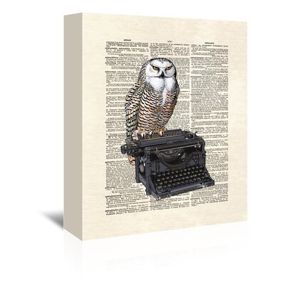 Americanflat 'Type Writer Owl' by Matt Dinniman Graphic Art Wrapped on Canvas