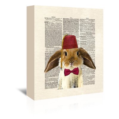 Americanflat 'Lop Bunny' by Matt Dinniman Graphic Art Wrapped on Canvas