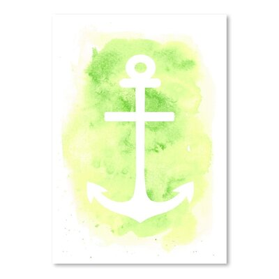 Americanflat 'Watercolour Anchor' by Jetty Printables Graphic Art