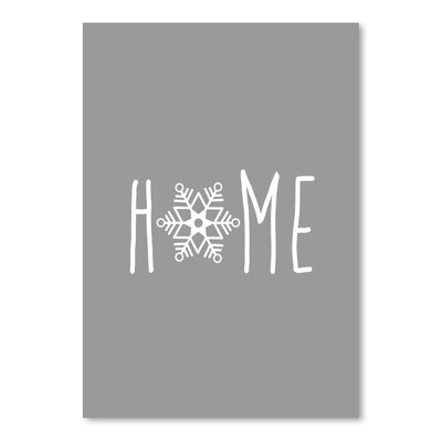 Americanflat 'Home Snowfake' by Jetty Printables Graphic Art