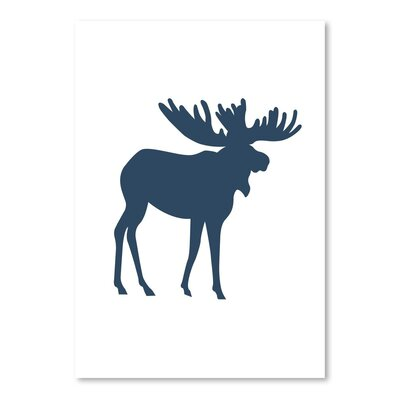 Americanflat 'Moose' by Jetty Printables Graphic Art in Blue
