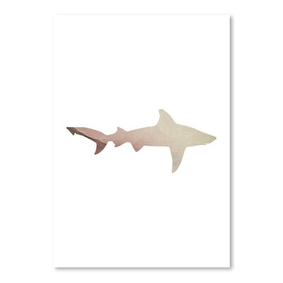 Americanflat 'Crackled Paper Shark' by Jetty Printables Graphic Art
