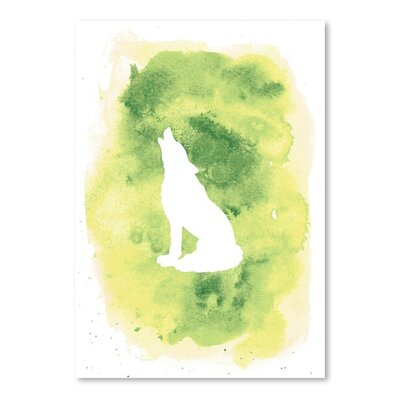 Americanflat 'Watercolour B Wolf'' by Jetty Printables Graphic Art