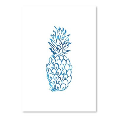 Americanflat 'Watercolourlue Pineapple' by Jetty Printables Graphic Art