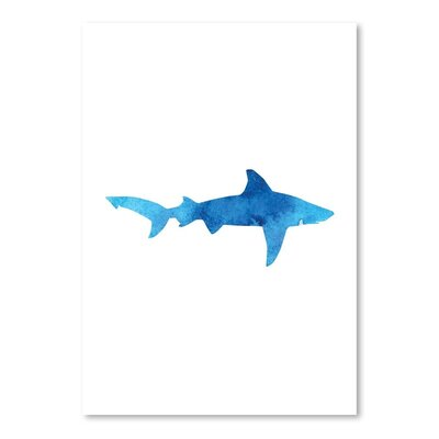 Americanflat 'Blue Watercolour Shark' by Jetty Printables Art Print