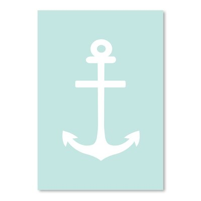 Americanflat 'Mint White Anchor' by Jetty Printables Graphic Art