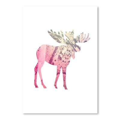 Americanflat 'Psychedelic Moose' by Jetty Printables Graphic Art