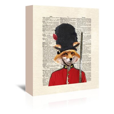 Americanflat 'Fox Guard' by Matt Dinniman Graphic Art Wrapped on Canvas