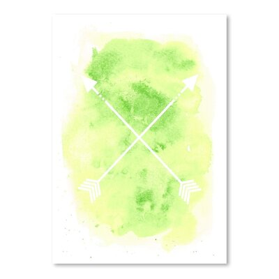 Americanflat 'B Watercolour Arrow' by Jetty Printables Graphic Art
