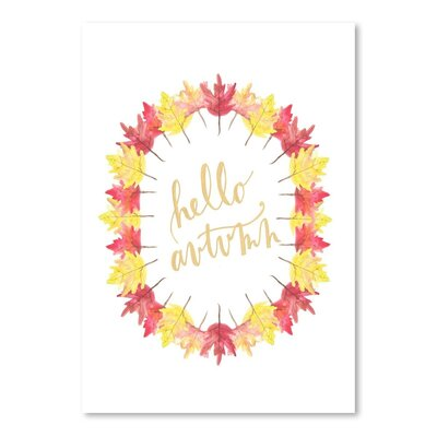 Americanflat 'Hello Autum' by Jetty Printables Graphic Art