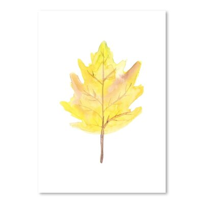 Americanflat 'Leaf 2' by Jetty Print Tables Art Print