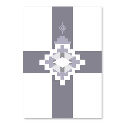 Americanflat 'Grey South Western Cross' by Jetty Printables Graphic Art