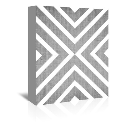 Americanflat 'Geometric White Grey' by Lila and Lola Graphic Art Wrapped on Canvas