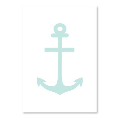 Americanflat 'Mint Anchor' by Jetty Printables Graphic Art