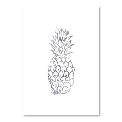 Americanflat 'Watercolour Grey Pineapple' by Jetty Printables Graphic Art