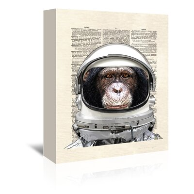 Americanflat 'Space Chimp' by Matt Dinniman Graphic Art Wrapped on Canvas