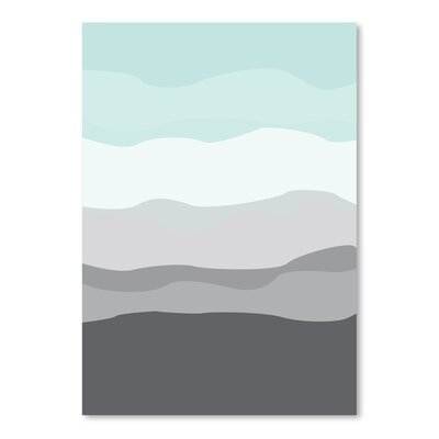 Americanflat 'Mint Grey Abstract' by Jetty Printables Graphic Art