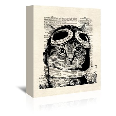 Americanflat 'Captainkitty' by Matt Dinniman Graphic Art Wrapped on Canvas