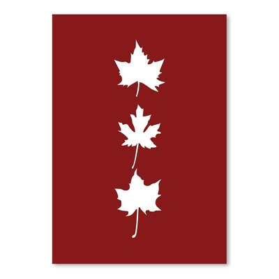 Americanflat 'Red Leaves' by Jetty Printables Graphic Art
