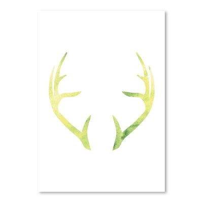 Americanflat 'Watercolour Antlers' by Jetty Printables Graphic Art