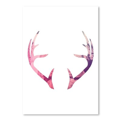 Americanflat 'Psychedelic Antlers' by Jetty Printables Graphic Art