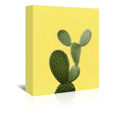 Americanflat 'Cactus on Yellow' by Lila and Lola Photographic Print Wrapped on Canvas