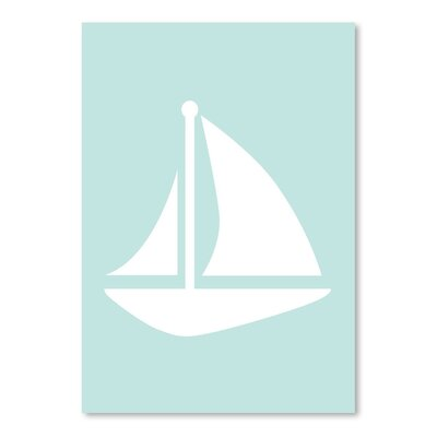 Americanflat 'Mint Sailboat' by Jetty Printables Graphic Art