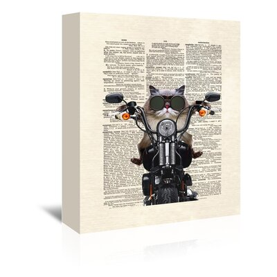 Americanflat 'Roxie Motorcycle' by Matt Dinniman Graphic Art Wrapped on Canvas
