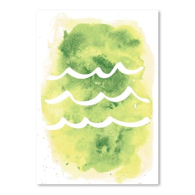 Americanflat 'Watercolour Waves'by Jetty Printables Graphic Art