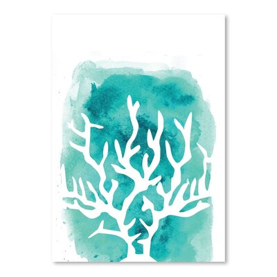 Americanflat 'Watercolour Coral' by Jetty Printables Graphic Art in Blue