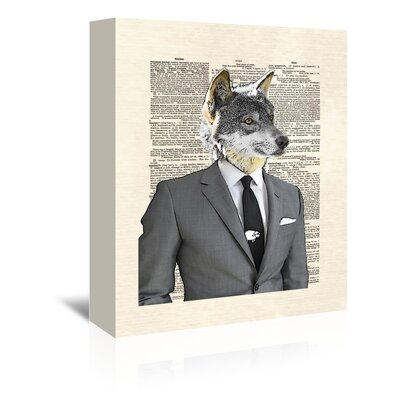 Americanflat 'Wolf of Wall Street' by Matt Dinniman Graphic Art Wrapped on Canvas