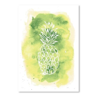 Americanflat 'Watercolour Pineapple' by Jetty Printables Graphic Art